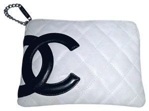 Chanel Cambon Lambskin Off white Clutch
