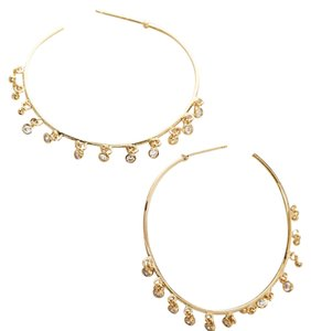 Anthropologie brinley hoop earring