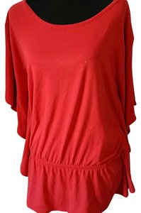 Apostrophe Dolman Batwing Top Red