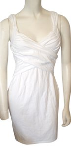 Victoria's Secret short dress White Mini Cross Ruched Bodice Size Small on Tradesy