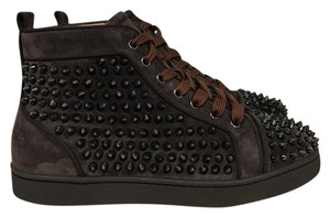 Christian Louboutin Suede Spike Louis Orlato Testa brown Athletic