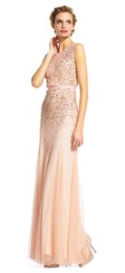 Adrianna Papell Illusion Beaded Gown Dress