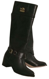 Coach Riding Boot Leather Black Boots
