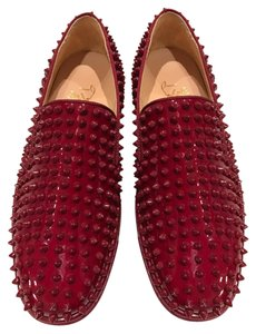 Christian Louboutin Roller Boat Carmin Spike Patent Red Athletic