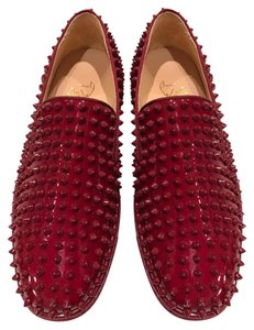 Christian Louboutin Roller Boat Spike Patent Leather red Athletic