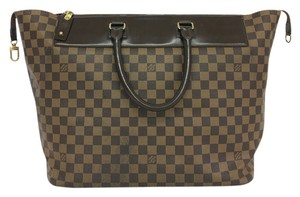 Louis Vuitton Lv Damier Ebene Canvas Tote in brown