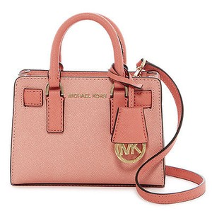 MICHAEL Michael Kors Dillon Rare Peach Saffiano Leather Satchel Cross Body Bag