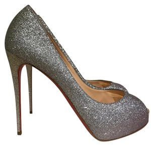 Christian Louboutin Drage Degrade Ombre Glitter Stiletto silver Pumps