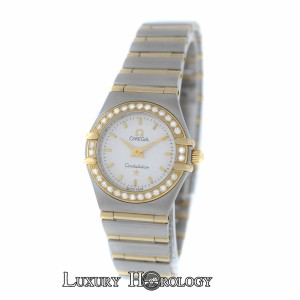 Omega Omega Constellation Diamond Bezel Full Bar 18K Yellow Gold 22MM