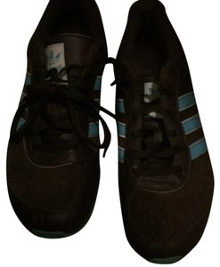 adidas brown and light blue stripes Athletic