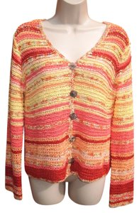 Coldwater Creek Woven Bright Sweater Cardigan