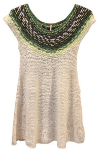 Free People short dress Winter White & Greens on Tradesy
