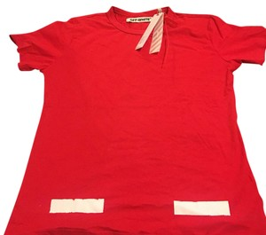 off white T Shirt red