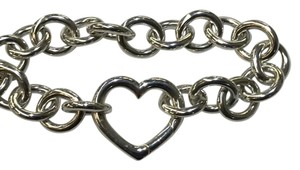 Tiffany & Co. STUNNING!!! Tiffany & Co. Open Heart Clasp Bracelet Sterling Silver 7