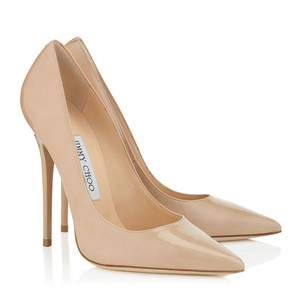 Jimmy Choo Patent Stiletto Nude Pumps
