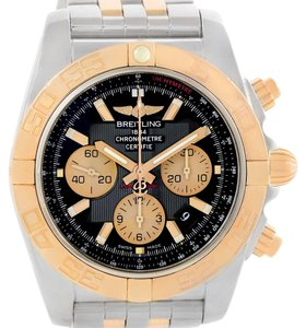 Breitling Breitling Chronomat Evolution Steel Rose Gold Black Dial Watch CB0110