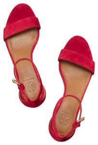 Tory Burch Red & Brown Wedges