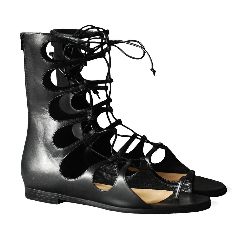 2f5c8a198233 Christian Louboutin Black New Sparty Flat Nappa Gladiator Sandals ...