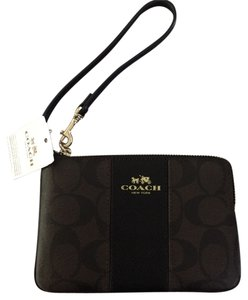 Coach Wristlet in brown and black