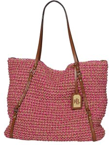 Ralph Lauren Tote in Pink/Tan
