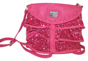 Betseyville Sequins Neon Ruffle Shoulder Bag