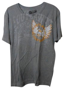 Helix Mens Large Graphic T Shirt gray
