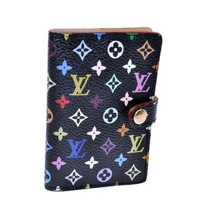 Louis Vuitton Authentic Louis Vuitton Monogram Multicolor Agenda Black Cover Lv