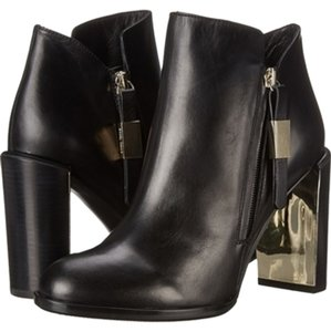 See by Chloé Metallic Leather Fur Black Boots