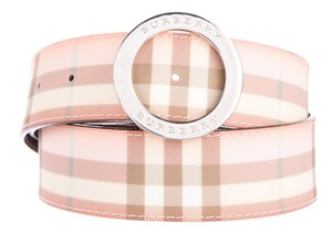 Burberry Beige, pink multicolor Burberry Nova check adjustable waist belt S