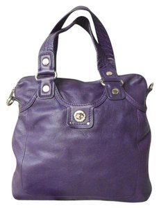 Marc by Marc Jacobs Leather Turn Lock Tote in Purple