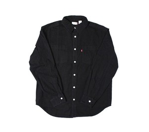 Levi's Mens Denim Button Up Work Shirt Button Down Shirt Black