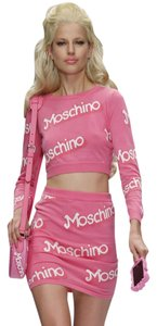 Moschino Monogram Logo Print Longsleeve Cotton Sweater