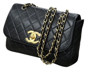 Chanel Flap Caviar Leather Shoulder Bag