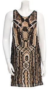 Diane von Furstenberg short dress black and gold on Tradesy