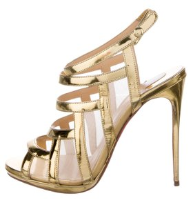 Christian Louboutin Nicole Metallic Hardware Gold Sandals