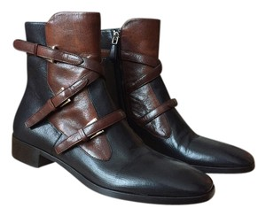 Prada Quality Leather Detail Black/Brown Boots