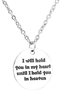 Next Level Dress I will hold you in my heart necklace