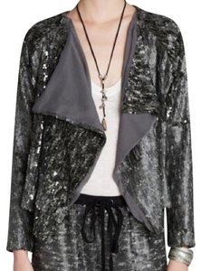 Free People Sequin Jacket Drippy Jacket Sequin Jacket Top Grey