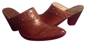 Frye cognac brown Mules