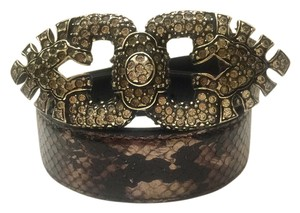Nannini Nanni Python Belt With Crystal and Diamante Stones