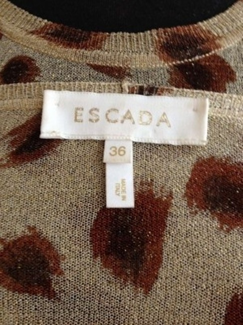 Escada Top Sheer Gold