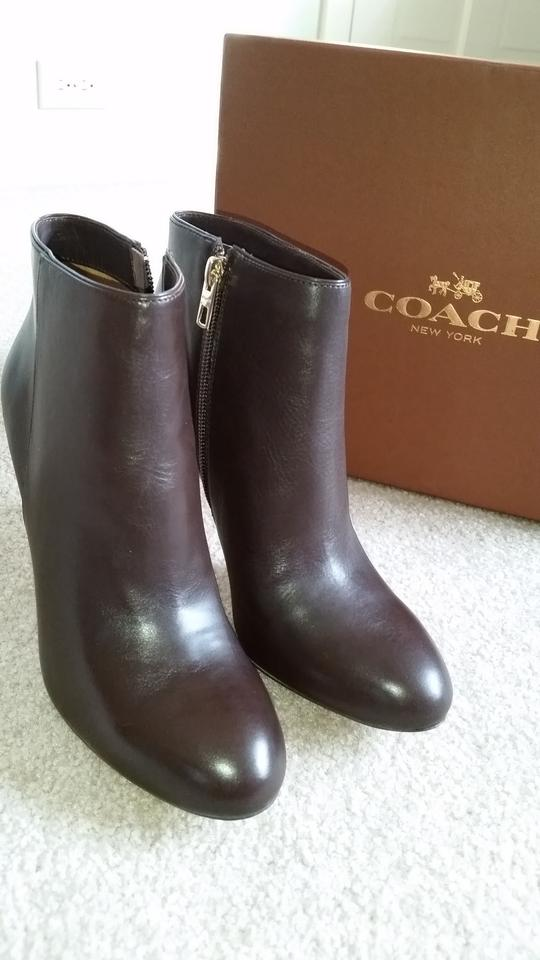 Coach Leather Napa Brown Boots 123456789101112
