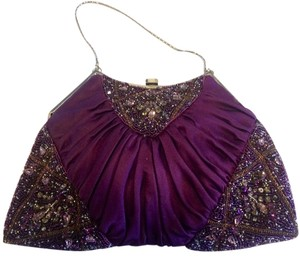 Badgley Mischka Purple Clutch