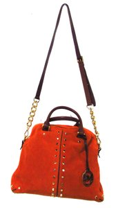 Michael Kors Burnt Satchel in Orange