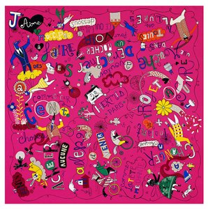 Hermès Hermes Scarf Les Confessions Fuchsia New in Box