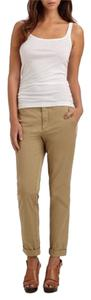 Vince Boyfriend Chino Relaxed Khaki Slouchy Trouser Pants Beige/ Light Brown