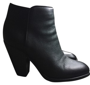 Scoop NYC Zip Ankle Leather black Boots