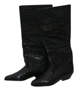 Specchio -high Faux Alligator Black Boots