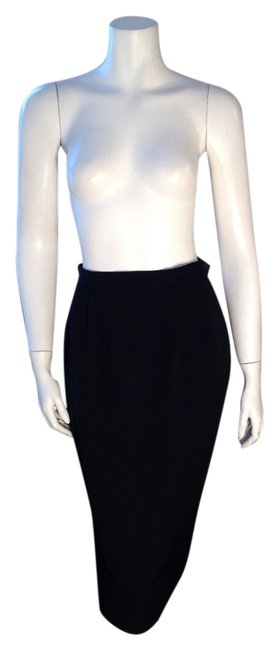 Austin Reed Dark Blue Vintage Wool Pencil Skirt Size 6 S 28 Tradesy