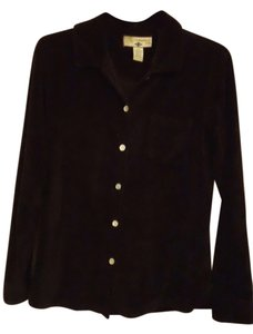 Caribbean Joe Cotton Polyester Longsleeve Button Down Shirt Black